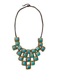 Panacea - Blue Chalcedony Rope Bib Necklace - Lyst