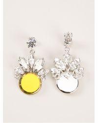 Anton Heunis - Yellow Embellished Earrings - Lyst