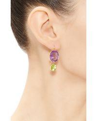 Renee Lewis | Purple Amethyst Peridot Mismatched Earrings | Lyst