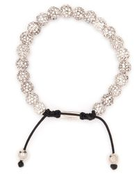 Nialaya | Metallic Lava Crystal-embellished Beaded Bracelet for Men | Lyst