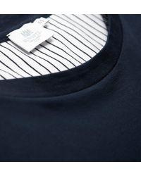 Sunspel - Blue Men's Long-staple Cotton Riviera T-shirt With Contrast Pocket for Men - Lyst