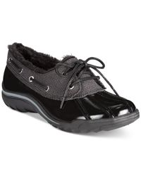 Anne Klein   Black Gamil Cold Weather Shoes   Lyst