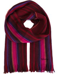Paul Smith - Purple Striped Scarf for Men - Lyst