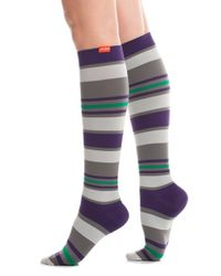 VIM & VIGR - Multicolor 'fun Stripe' Graduated Compression Trouser Socks - Lyst