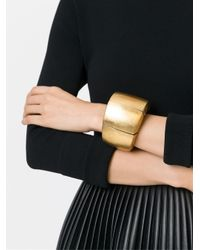 Monies - Yellow Sectional Metallic Cuff - Lyst