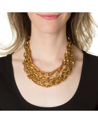 Ben-Amun | Metallic Foiled Gold Chain Necklace | Lyst