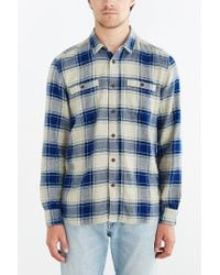 Stapleford - Blue Kettle Plaid Flannel Button-down Shirt for Men - Lyst
