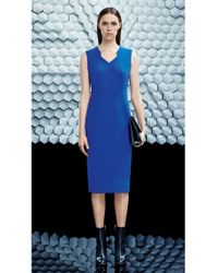BOSS Blue Dress In Viscose Blend: 'dokysa'