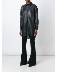 DROMe - Black Perforated Leather Shirt - Lyst