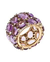 Pomellato - Women's Lulu 18k Yellow Gold Purple Amethyst Ring - Lyst