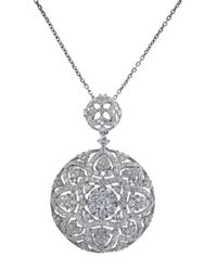 Effy | Metallic Diamond And 14k White Gold Pendant Necklace, 1.24 Tcw | Lyst