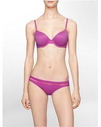 Calvin Klein - Purple Underwear Perfectly Fit Lace Modern T-shirt Bra - Lyst