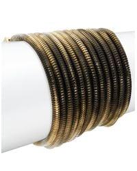 ABS By Allen Schwartz | Black Goldtone Ombre Chain Bracelet | Lyst