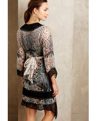 Anna Sui - Black Laced Ikebana Dress - Lyst