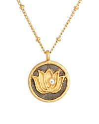 Satya Jewelry | Black 'om' Pendant Necklace | Lyst