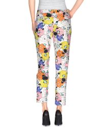 Pinko - White Casual Trouser - Lyst