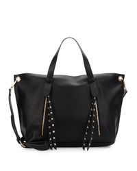 Steve Madden - Black Sable Studded Trim Satchel - Lyst