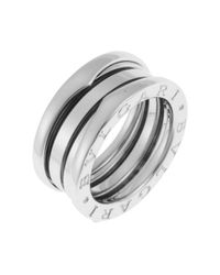 BVLGARI | Metallic Pre-Owned Women'S Pre-Owned B. Zero 18K White Gold Two-Band Ring | Lyst