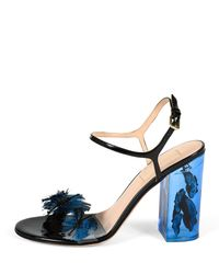 Valentino - Black Butterfly Patent-Leather Pumps  - Lyst