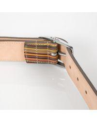 Paul Smith - Multicolor Vintage Stripe Belt for Men - Lyst