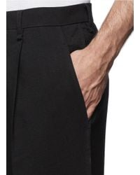 Lanvin - Black Tapered Cotton Pants for Men - Lyst