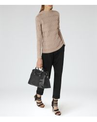 Reiss - Natural Porter High-neck Jumper - Lyst