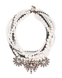BaubleBar | White Pearl Bennet Bib | Lyst