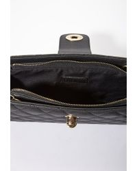 Forever 21 - Black Quilted Faux Leather Convertible Bag - Lyst