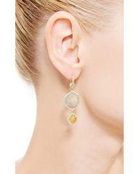 Nina Runsdorf - Green One Of A Kind Two Tier Slice Diamond Earrings - Lyst