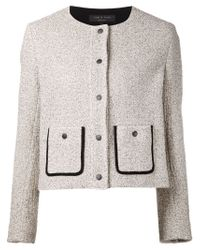 Rag & Bone | Black Boucle Knit Jacket | Lyst