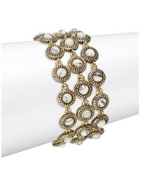 House of Harlow 1960 | White Cuzco Three-row Howlite Bracelet | Lyst
