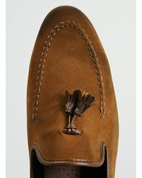 TOPMAN - Brown Grail Adler Tan Suedette Tassel Loafers for Men - Lyst