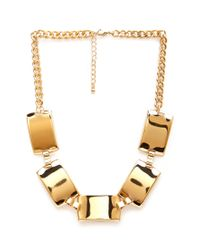 Forever 21 | Metallic Chain Plate Necklace | Lyst