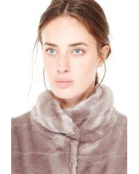 Liu Jo | Gray Faux Fur Cardigan | Lyst
