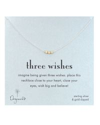 Dogeared | Metallic '3 Wishes' Gold Stardust Bead Necklace | Lyst
