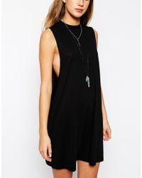 ASOS   Green T-shirt Dress With Drop Arm Hole   Lyst