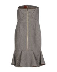 Roland Mouret - Gray Short Dress - Lyst