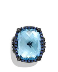 David Yurman | Châtelaine Ring With Blue Topaz And Blue Sapphire for Men | Lyst