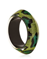 Nicholas King - Green Leopard Ufo Bangle Bracelet - Lyst