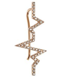 Diane Kordas | Pink Heartbeat 18kt Rose Gold Ear Cuff With White Diamonds | Lyst