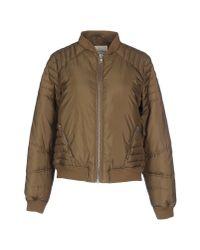 American Vintage - Green Down Jacket - Lyst