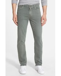 7 For All Mankind - Green 'slimmy - Luxe Performance' Slim Fit Jeans for Men - Lyst
