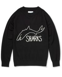 Sibling | Black The Sharks Intarsia Wool Sweater for Men | Lyst