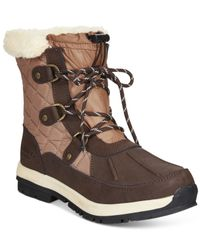 BEARPAW | Brown Bethany Lace-up Waterproof Cold Weather Booties | Lyst