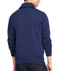 Ralph Lauren - Blue Polo Fleece Shawl Cardigan for Men - Lyst