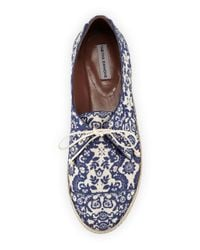 Tabitha Simmons - Blue Dolly Printed Espadrilles  - Lyst