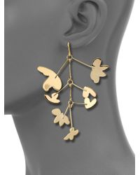 Marc By Marc Jacobs - Metallic Wire Wildflower Asymmetrical Earrings - Lyst