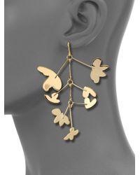 Marc By Marc Jacobs | Metallic Wire Wildflower Asymmetrical Earrings | Lyst