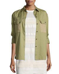 Belstaff - Green Fatigue Patch-pocket Shirt - Lyst