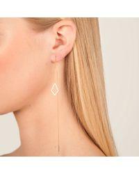 Dutch Basics - Metallic The Ruit Drop Earring Gold - Lyst